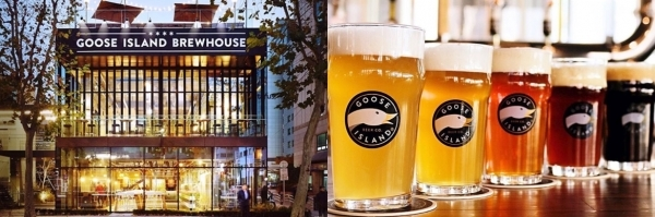 'Goose Island Brew House' is a brewery pub around Sinbundang Line of Gangnam Station.